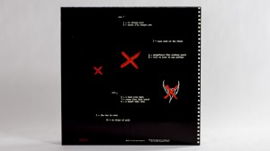 Black Heart Procession LP jacket back for Three