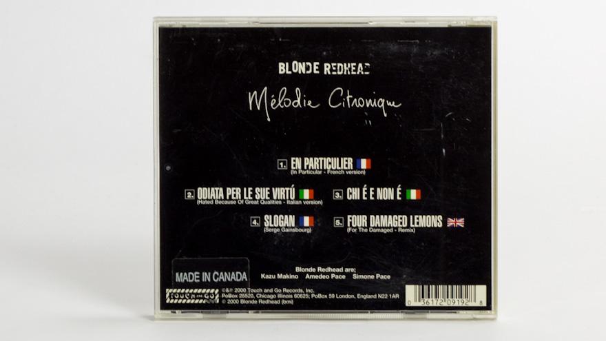 Blonde Redhead – Mélodie Citronique