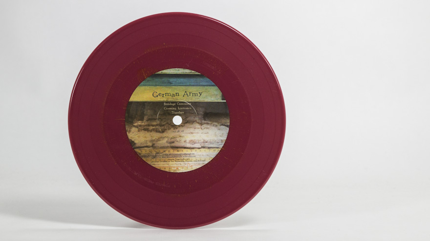 red with gold haze vinyl