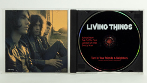 Living Things - Turn In Your Friends And Neighbors CD jewel case gatefold