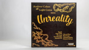 andrew cohen and light coma - Unreality LP jacket back cover